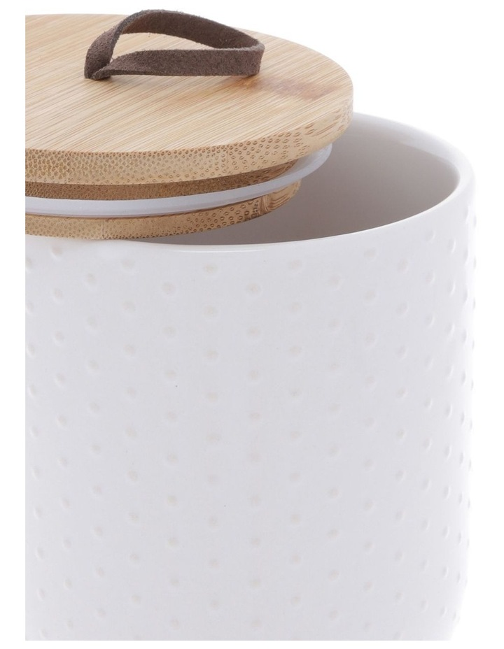 Dots Embossed Canister 10.5cm x 17.7cm Medium - White image 2