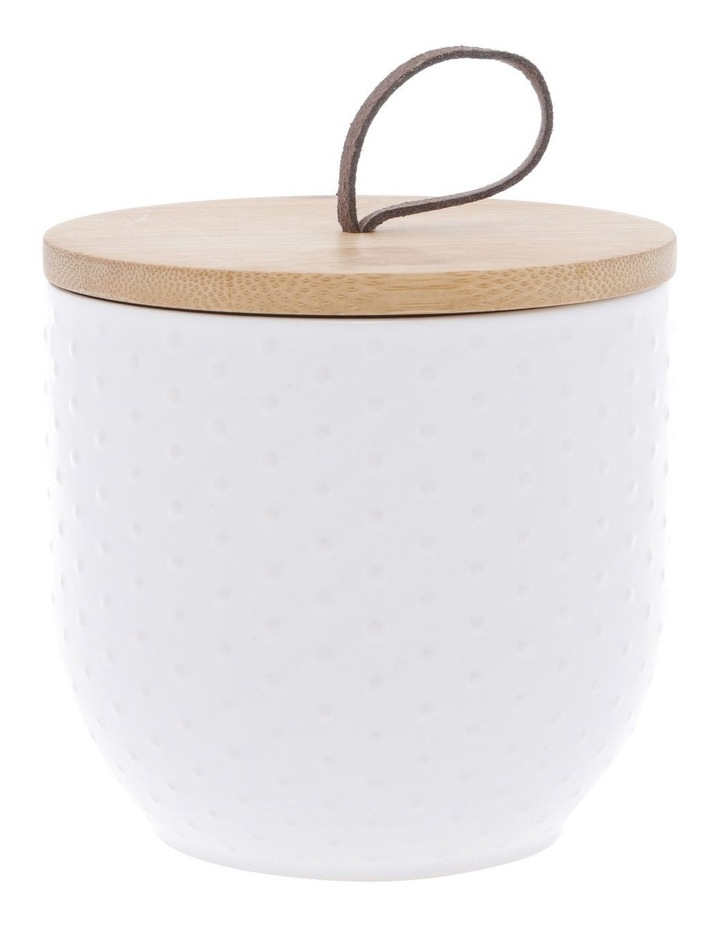 White Dots Embossed Canister Small image 1