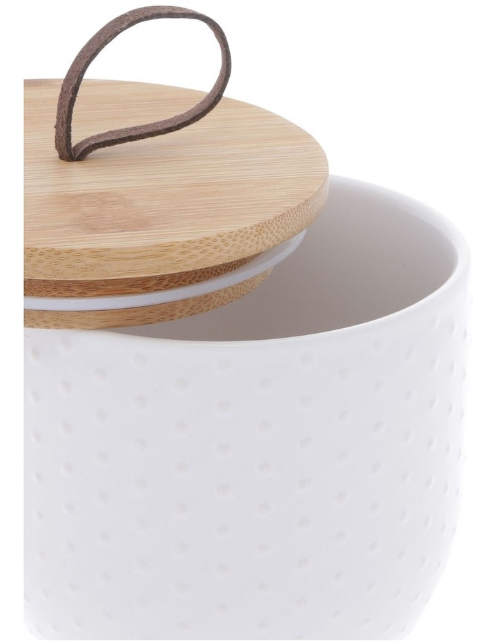 White Dots Embossed Canister Small image 2