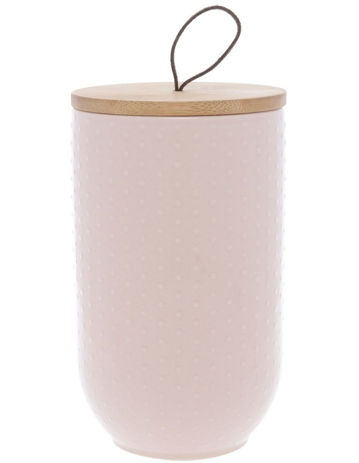 Blush Dots Embossed Canister Large image 1