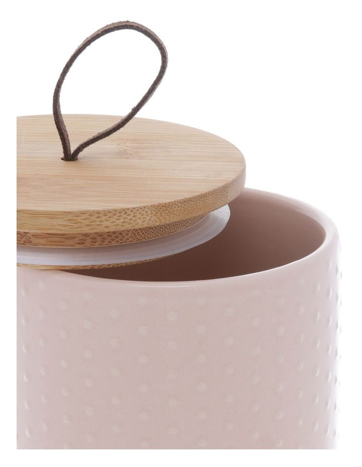 Blush Dots Embossed Canister Large image 2