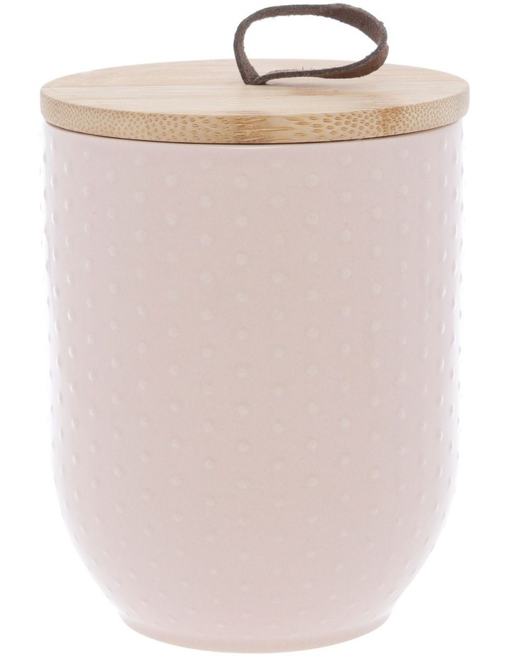 Blush Dots Embossed Canister 10.5cm x 17.7cm Medium - Blush image 1
