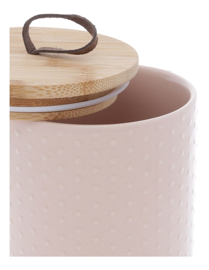 Blush Dots Embossed Canister 10.5cm x 17.7cm Medium - Blush image 2