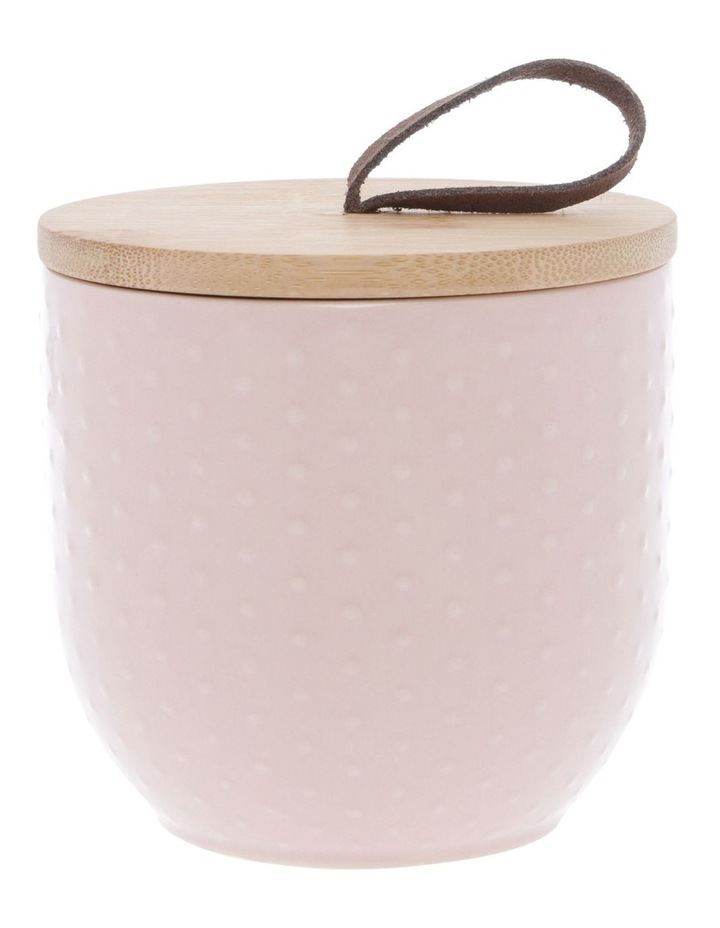 Blush Dots Embossed Canister 10.5 cm x 14.9 cm Small image 1