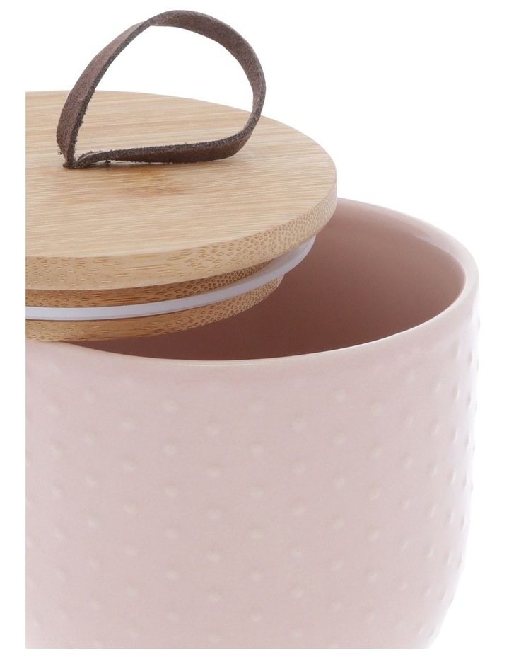 Blush Dots Embossed Canister 10.5 cm x 14.9 cm Small image 2