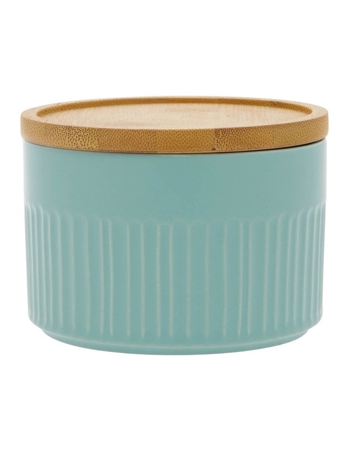 Illusion Aqua Canister With Wooden Lid image 1