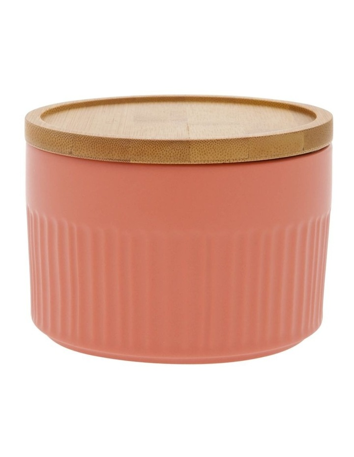 Illusion Coral Canister With Wooden Lid image 1