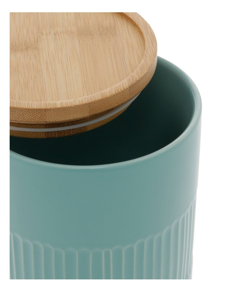 Illusion Aqua Canister With Wooden Lid image 2
