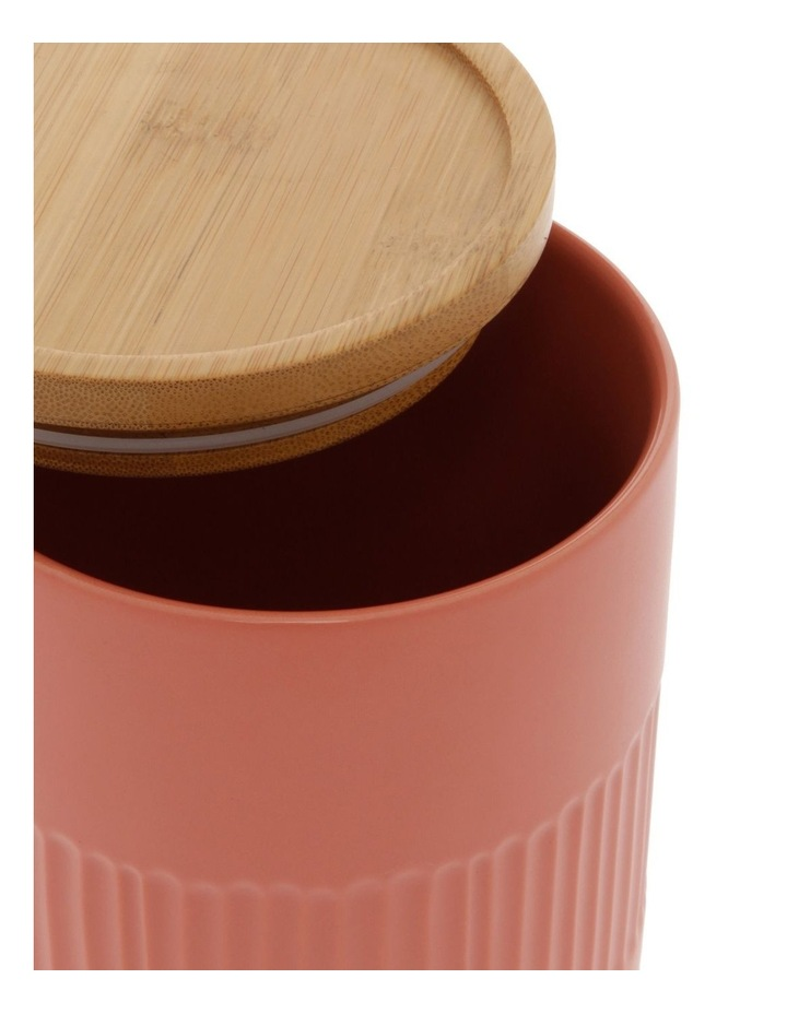 Illusion Coral Canister With Wooden Lid image 2