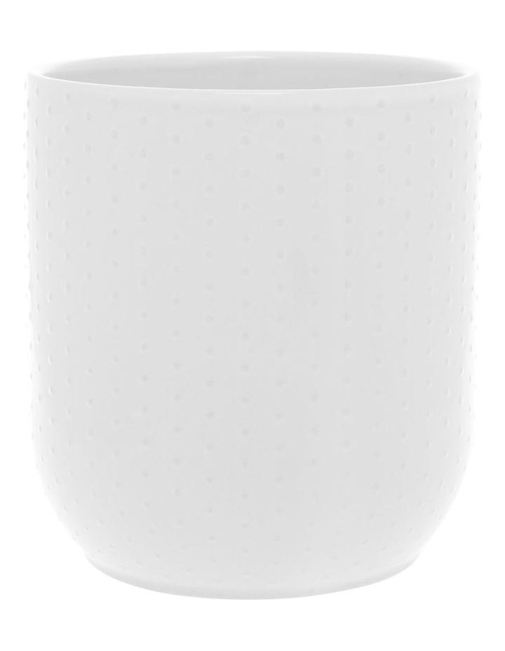 Dots Embossed 13.5cm Utensil Jar - White image 1