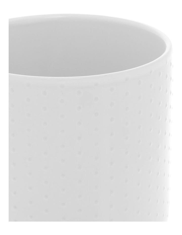 Dots Embossed 13.5cm Utensil Jar - White image 2