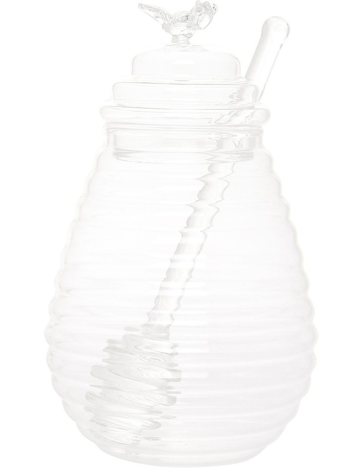 Harvest Glass Honey Pot image 1