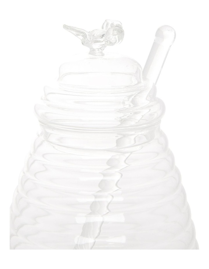 Harvest Glass Honey Pot image 3