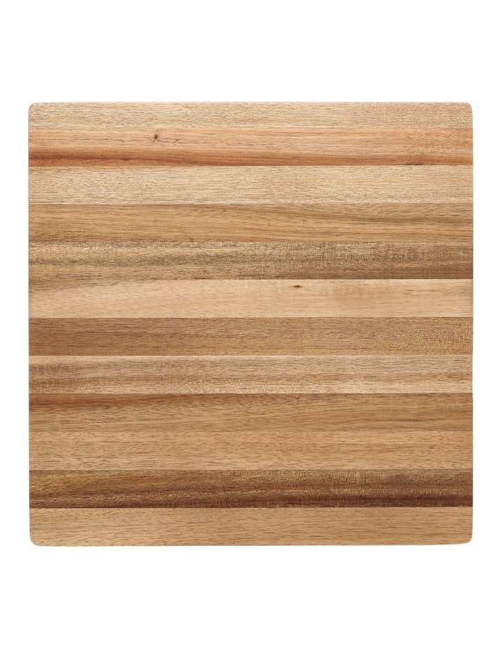 Acacia wood rectangular chopping board 35x35x4.5cm image 1
