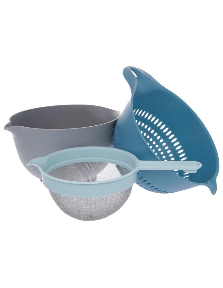 Venn 3.5l Mixing Bowl, Colander & Sieve Set image 1