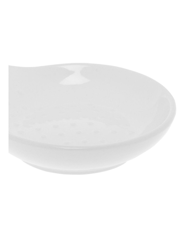 Dots Embossed Spoon Holder -White image 2