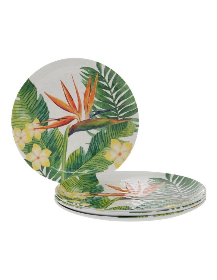 Melamine Tropical Motif Dinner Plates - Set Of 4 image 1