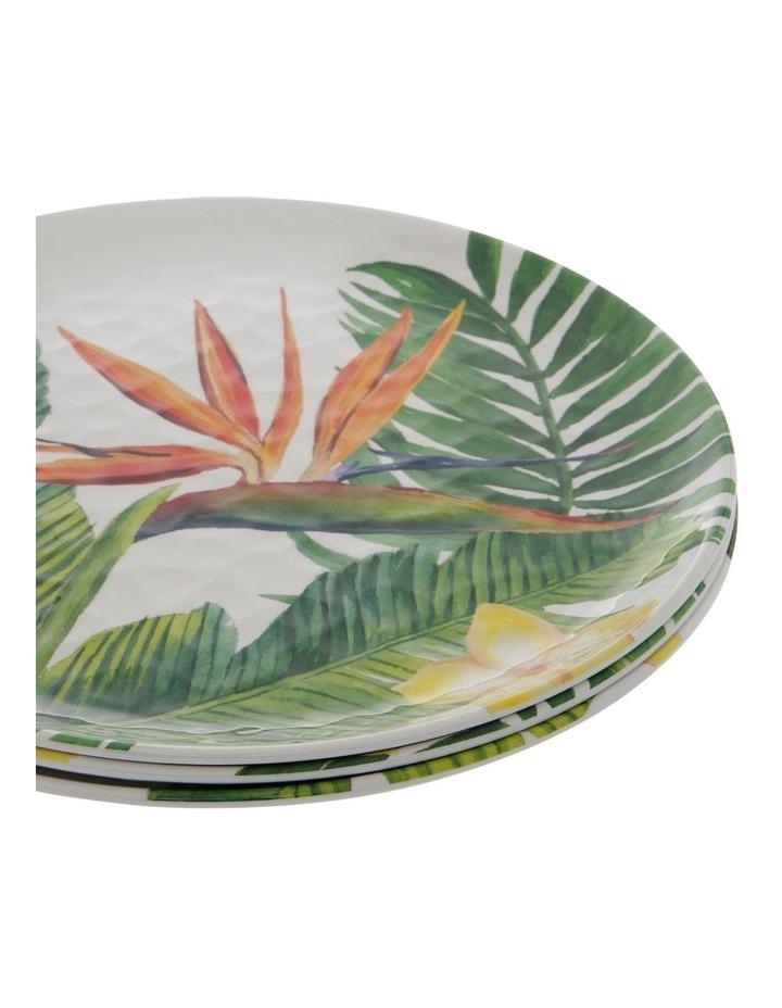 Melamine Tropical Motif Dinner Plates - Set Of 4 image 2