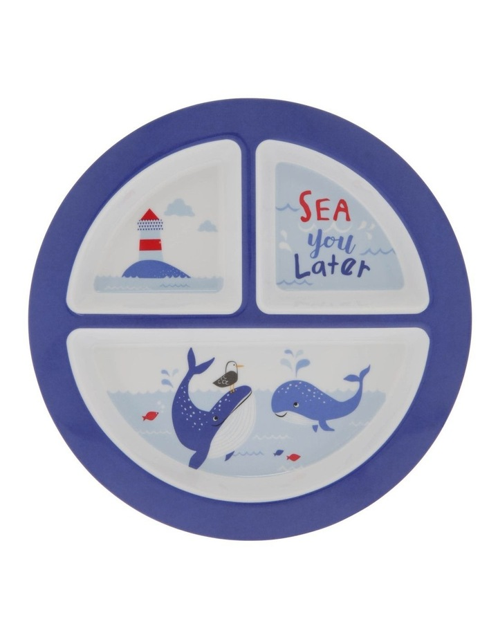 Melamine Under The Sea Dinner 3-Section Plate image 1