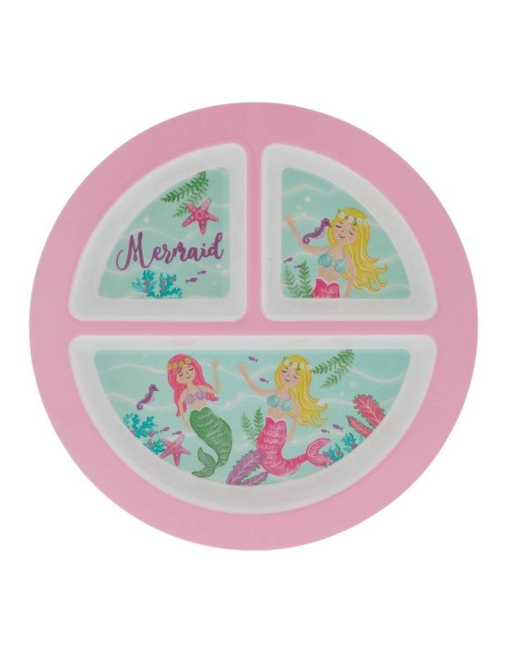 Melamine Mermaid 3-Section Plate image 1