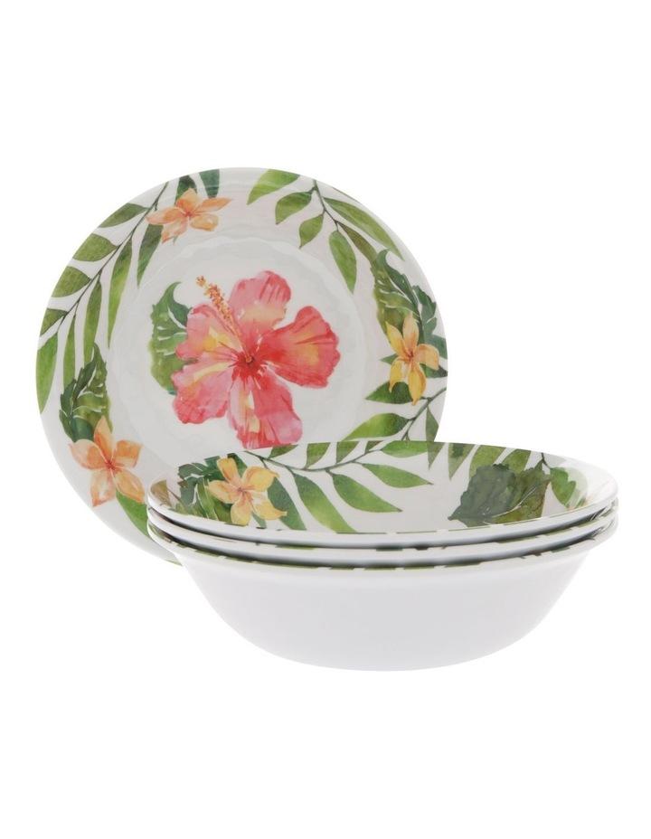 Hibiscus Melamine Small Bowl - Set Of 4 image 1