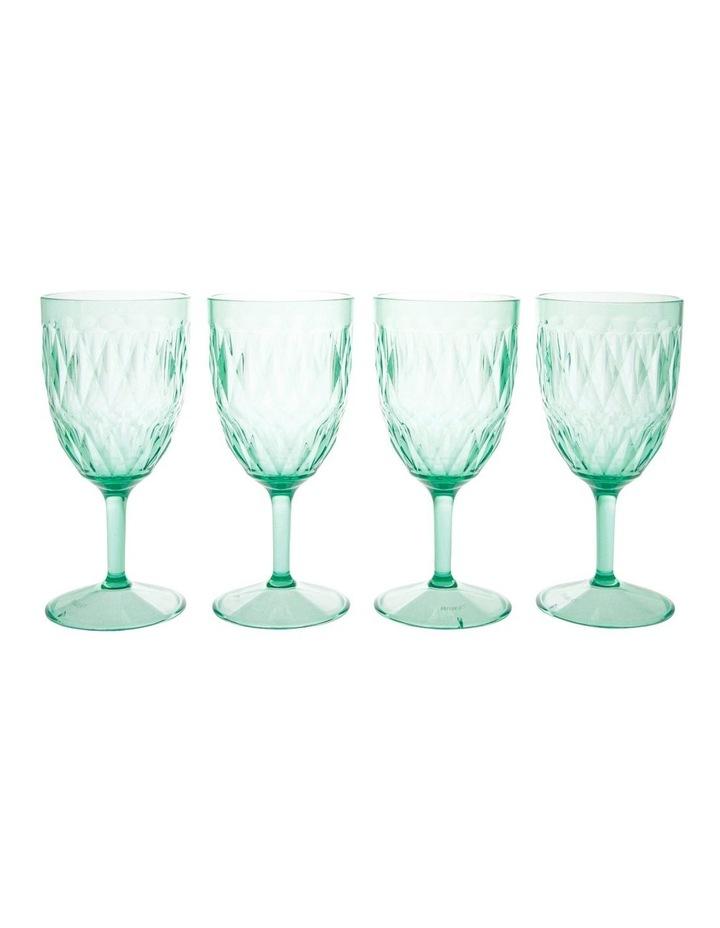 Acrylic Radiant Green Wine Goblet - Set of 4 image 1