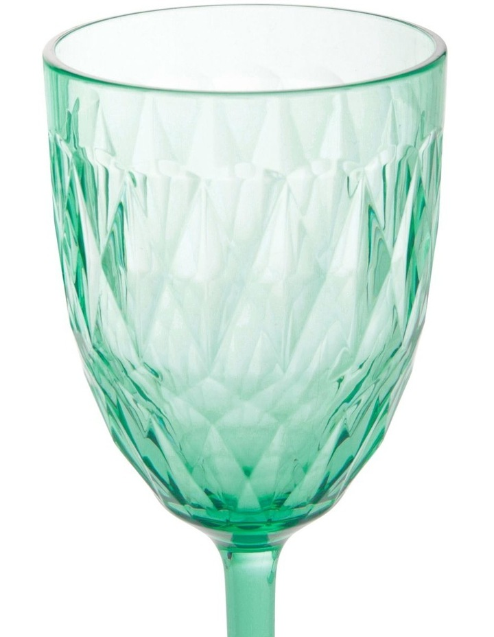 Acrylic Radiant Green Wine Goblet - Set of 4 image 2