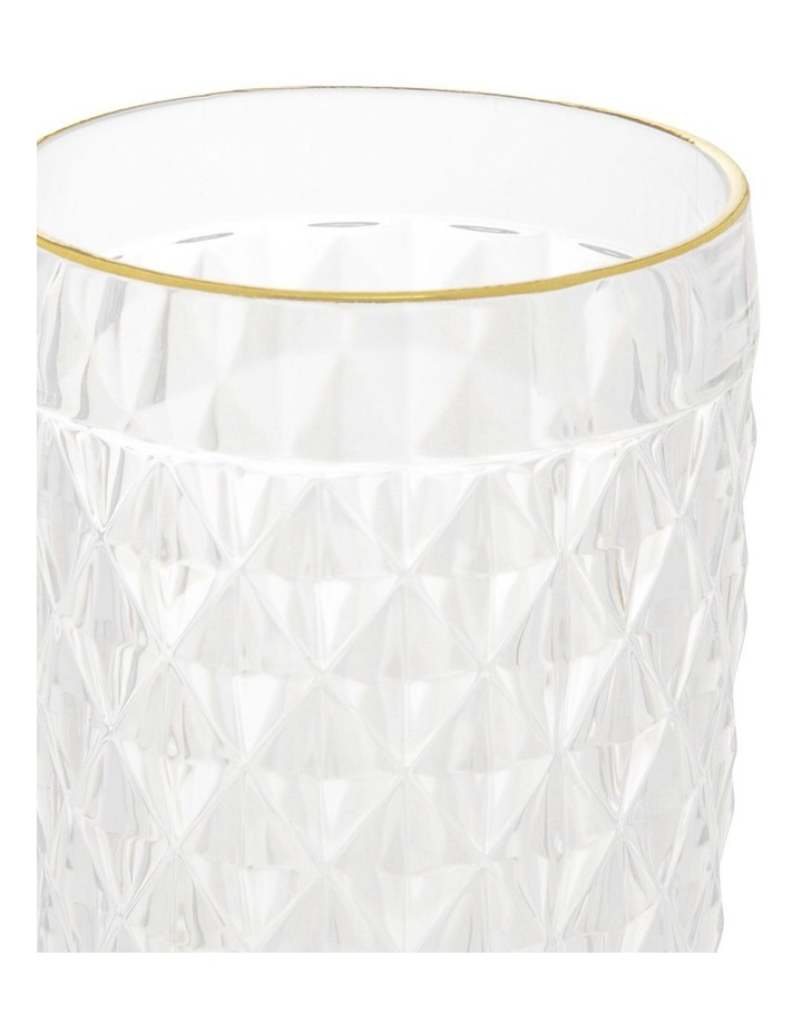 Acrylic Diamond Highball Cup with Gold Rim - Set of 4 image 2