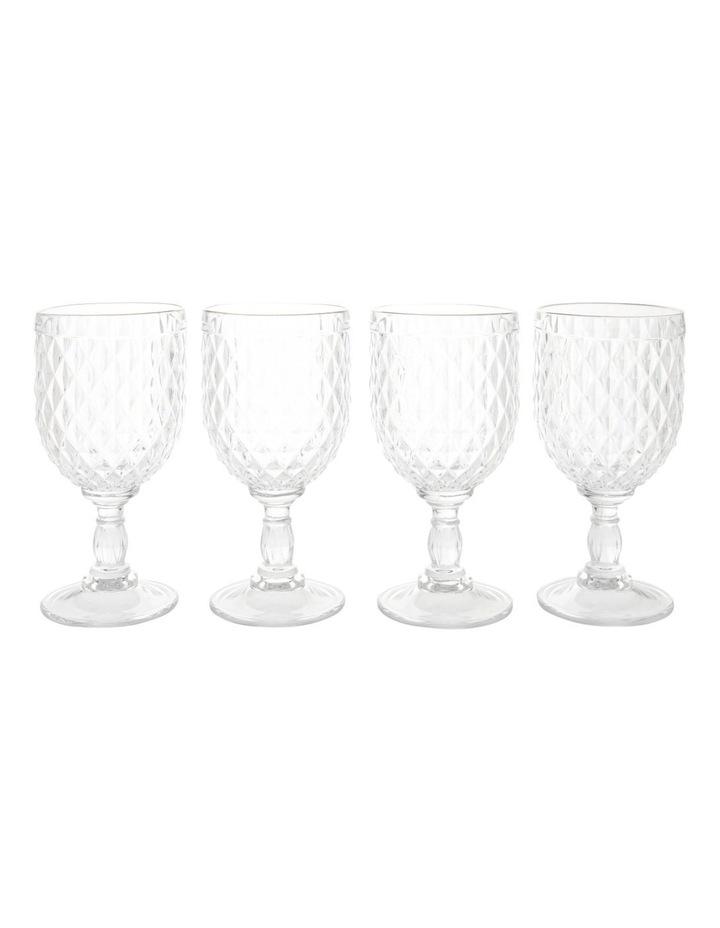 Acrylic Diamond Wine Glass with Gold Rim - Set of 4 image 1
