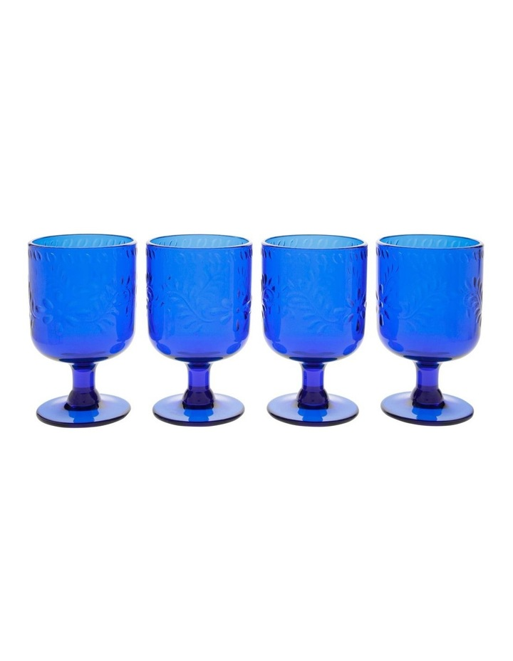Limone Acrylic Wine Goblet Blue - Set Of 4 image 1