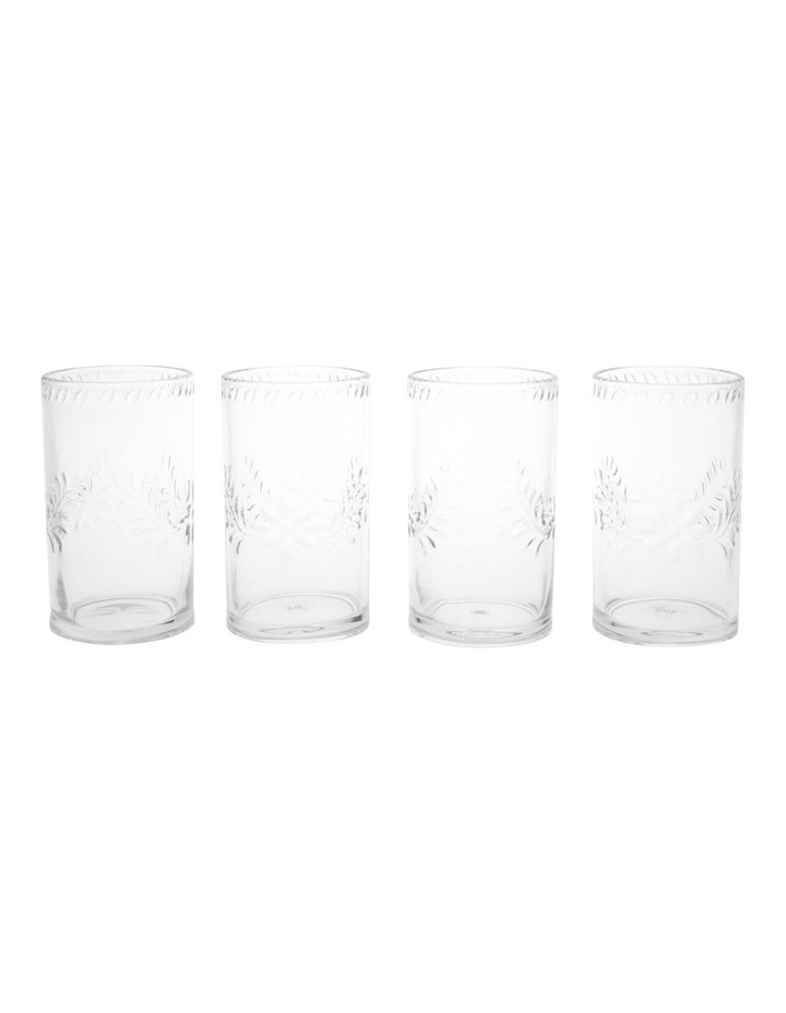 Limone Acrylic Tumbler Clear - Set Of 4 image 1