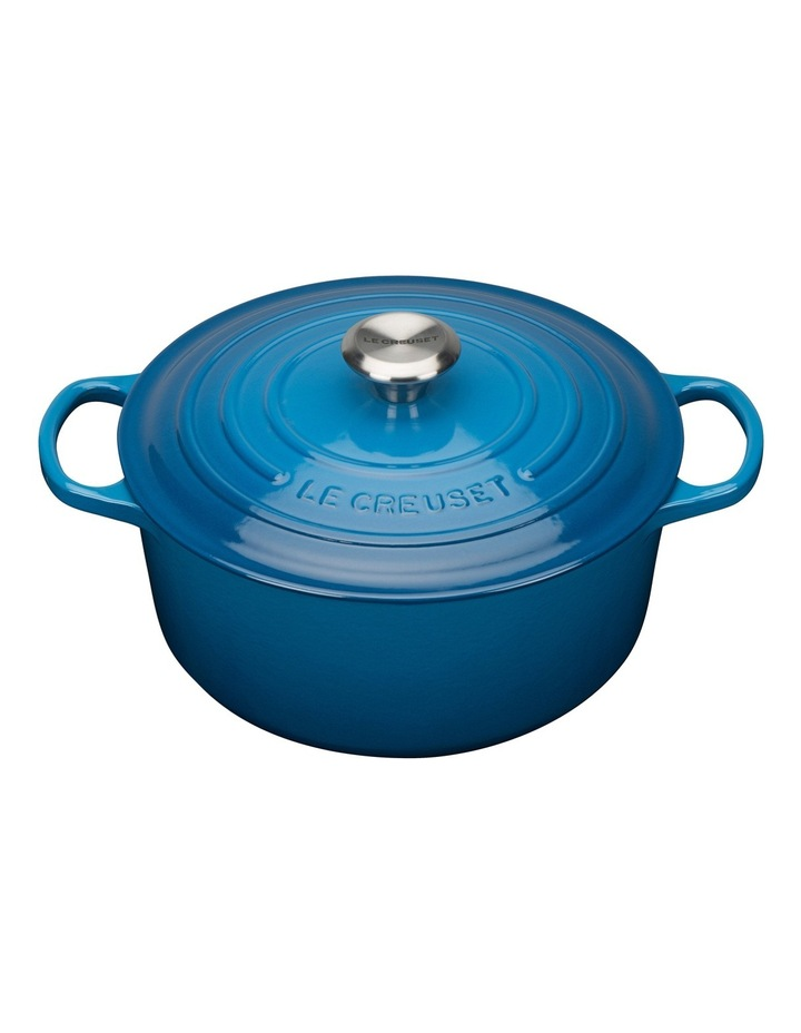Signature Cast Iron Round Casserole - Marseille Blue: Made in France image 1