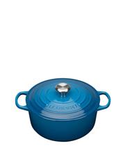 Signature Cast Iron Round Casserole - Marseille Blue: Made in France