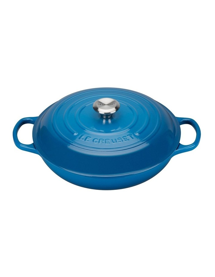 Signature Cast Iron 30cm Shallow Casserole - Marseille Blue: Made in France image 1