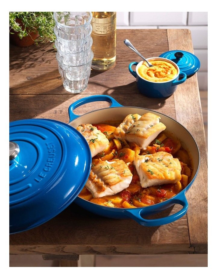 Signature Cast Iron 30cm Shallow Casserole - Marseille Blue: Made in France image 2