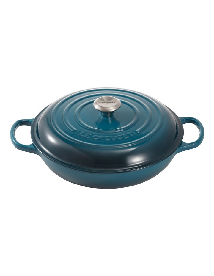 Signature Cast Iron 30cm Shallow Casserole - Deep Teal image 1
