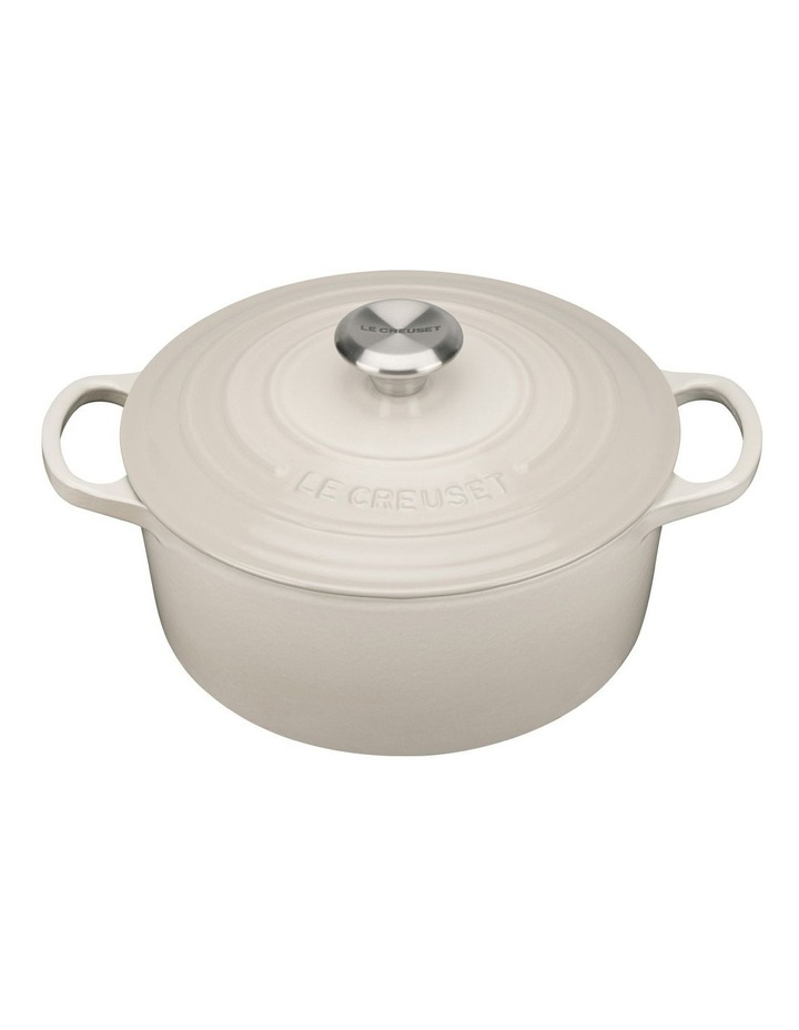 Le Creuset Signature 24cm round casserole Creme image 1