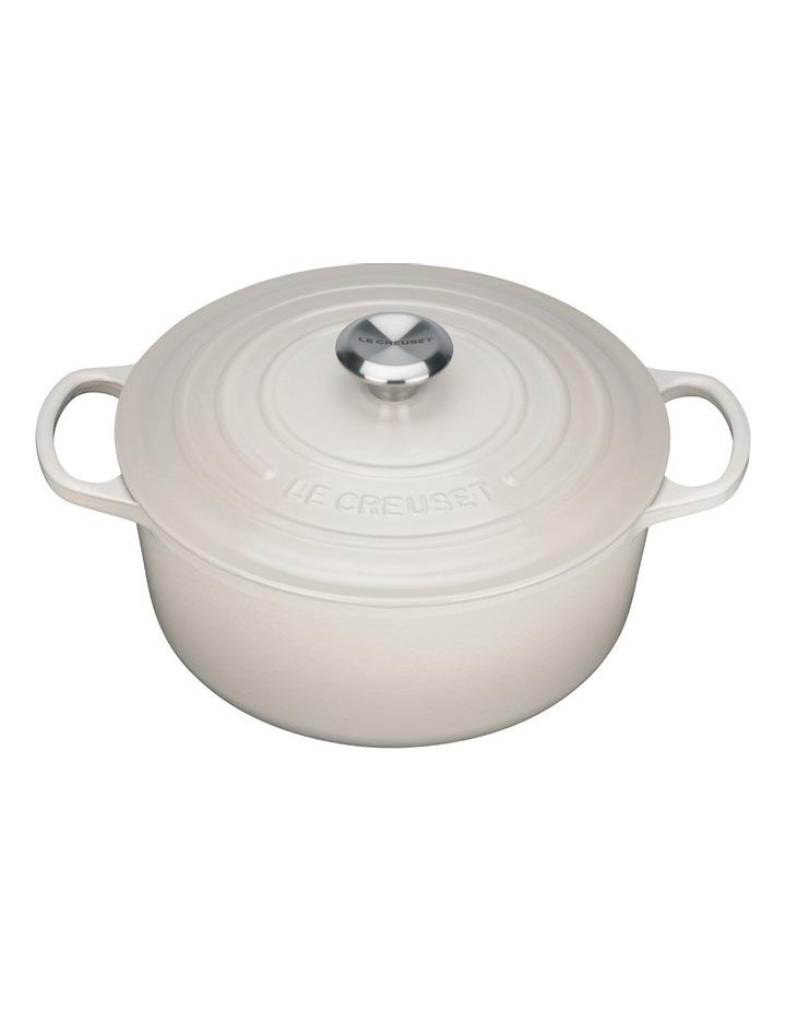Le Creuset Signature 26cm round casserole Creme image 1