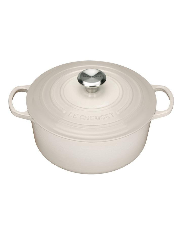 Le Creuset Signature 28cm round casserole Creme image 1