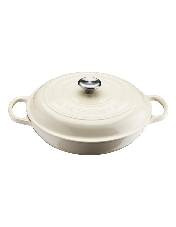 Le Creuset Signature 30cm shallow casserole Creme image 1
