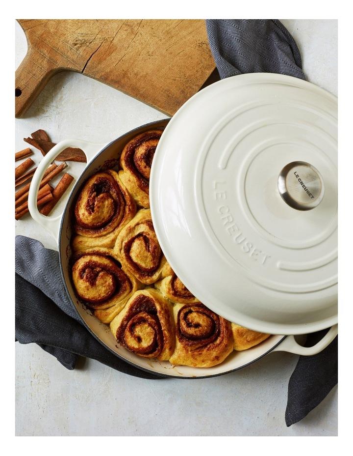 Le Creuset Signature 30cm shallow casserole Creme image 2