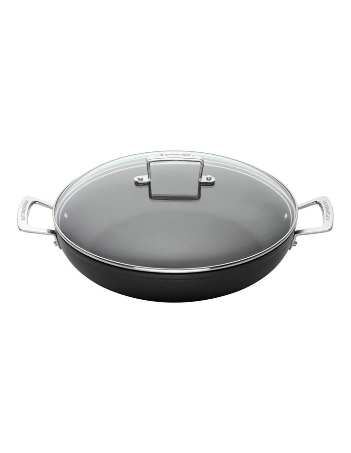 Le Creuset TNS Shallow Casserole 30cm With Glass Lid image 1