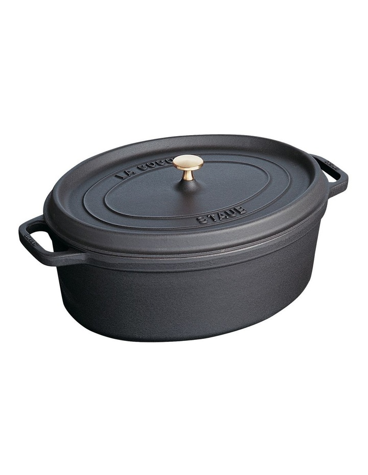 Staub Oval Cocotte 31cm/5.5L - Black image 1