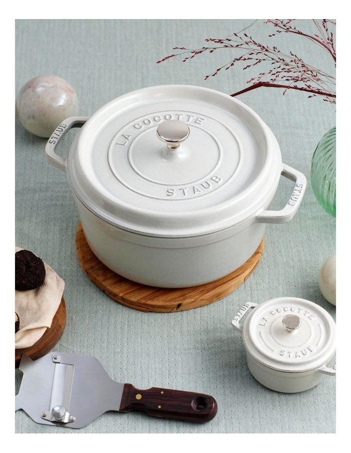 Staub Round Cocotte 24cm/3.8L - White Truffle image 2