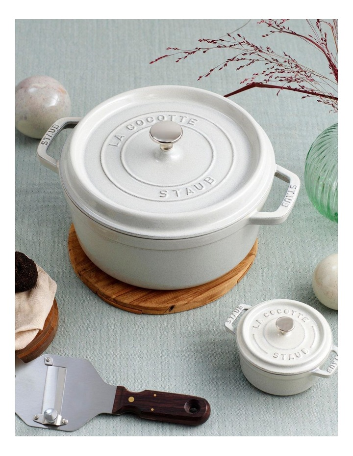 Staub Round Cocotte 28cm/6.7L - White Truffle image 2