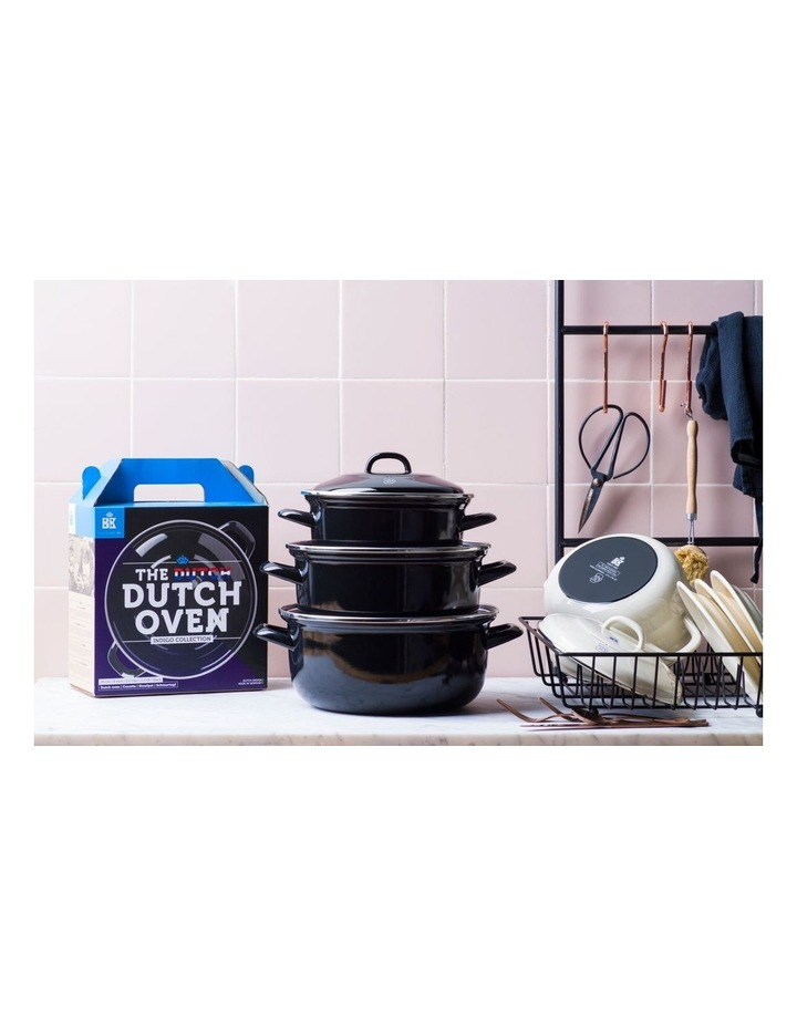 Dutch Dutch Oven Black w/blue interior 26cm image 5