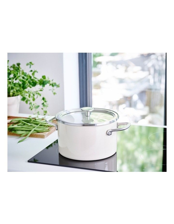 Steel Core Enamel Covered Casserole Almond Cream 20cm image 4