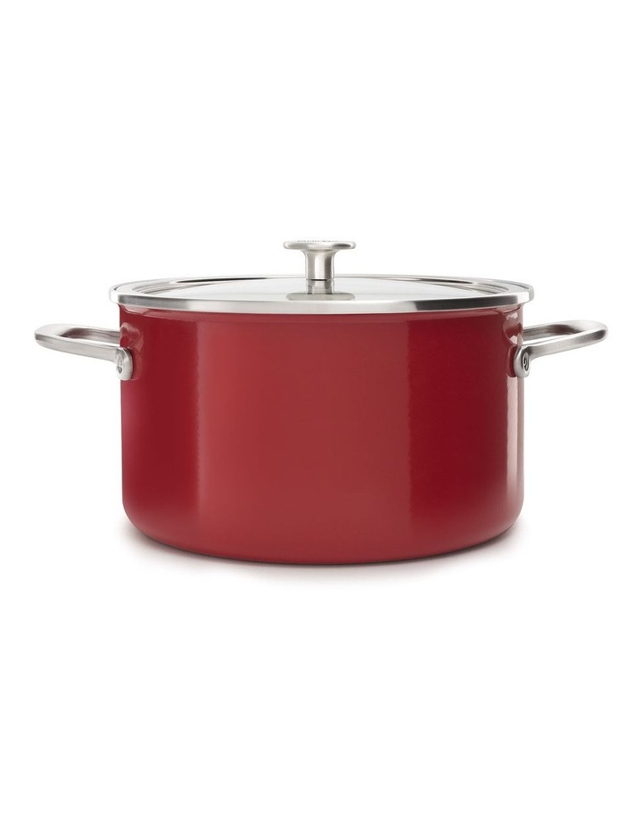 Steel Core Enamel Covered Casserole Empire Red 24cm image 1