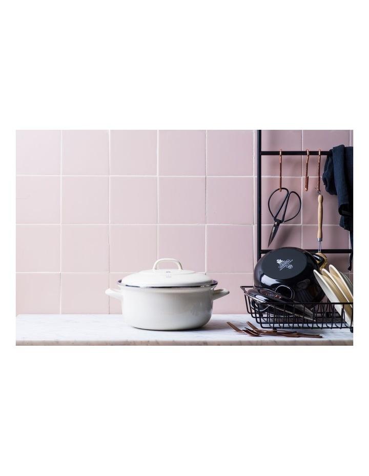 Dutch Oven Cream w/blue interior 20cm image 6