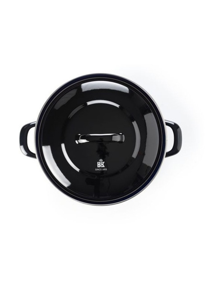 Dutch Oven Black w/blue interior 20cm image 2